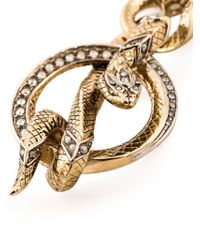 Roberto Cavalli | Metallic Wrapped Snake Necklace | Lyst