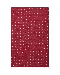 Drake's - Red Polka Dot Scarf for Men - Lyst
