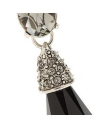 Oscar de la Renta - Black Crystal-embellished Earrings - Lyst