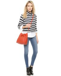 Deux Lux - Red Drawstring Bucket Bag - Cayenne - Lyst