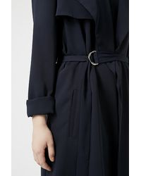 TOPSHOP - Blue Waterfall Belted Duster - Lyst
