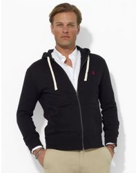 Polo Ralph Lauren | Black Full-Zip Fleece Hoodie for Men | Lyst