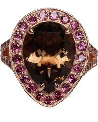 Dinny Hall - Pink Rose Gold Vermeil Smoky Quartz Shai Ring - Lyst