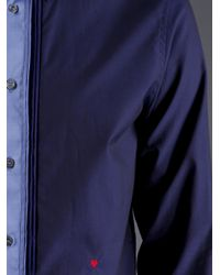 Moschino - Blue Classic Collar Dress Shirt for Men - Lyst