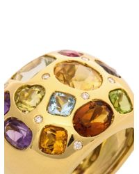 Kiki McDonough - Metallic Diamond Gem Gold Ring - Lyst