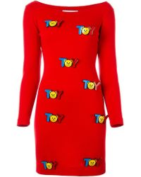 Moschino - Red Toy Embellished Dess - Lyst