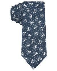 Tommy Hilfiger - Blue Denim Flower Slim Tie for Men - Lyst