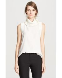 Elizabeth and James | White 'tivi' Sleeveless Silk Top | Lyst