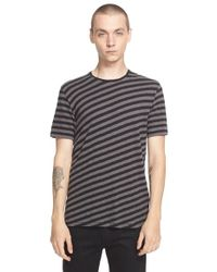 Rag & Bone - Black 'Punk' Stripe Print T-Shirt for Men - Lyst
