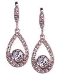Givenchy - Pink Rose Gold-tone Small Pear-shaped Drop Earrings - Lyst
