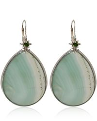 Stephen Dweck | Silver Green Agate and Chromediopside Teardrop Earrings | Lyst