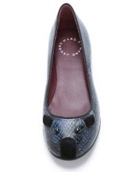 Marc By Marc Jacobs - Blue Constructed Mouse Flats - Ink - Lyst