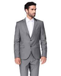 SELECTED - Gray Blazer/trench for Men - Lyst