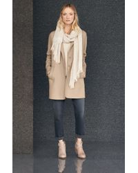 Eileen Fisher - Natural Boiled Wool Blend Coat - Lyst