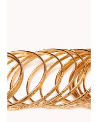 Forever 21 - Metallic Heirloom Bangle Set - Lyst