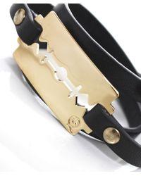 McQ Alexander McQueen - Black Triple Wrap Razor Bracelet - Lyst