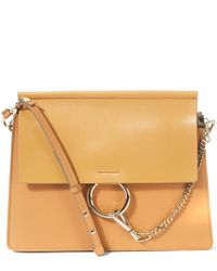 Chloé - Brown Faye Medium Leather Shoulder Bag - Lyst
