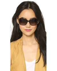 Marc By Marc Jacobs | Brown Oversized Sunglasses - Crystal White/grey Gradient | Lyst