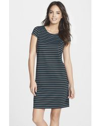 Marc New York | Blue By Andrew Marc Stripe Ponte A-line Dress | Lyst