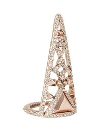 House of Harlow 1960 - Pink Tres Tri Finger Ring - Lyst