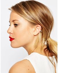 ASOS | Natural Limited Edition Cube & Pearl Ear Cuff | Lyst