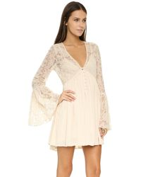 Free People - Natural With Love From India Dress - Lyst