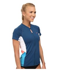 Nike - Blue Color Block S/s Hydro Top - Lyst