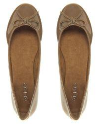 ALDO - Brown Mirabile Taupe Flat Shoe - Lyst