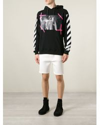 Off-White c/o Virgil Abloh - Black Photo Print Striped Sweatshirt for Men - Lyst
