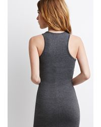 Forever 21 | Gray Classic Stretch-knit Midi Dress | Lyst