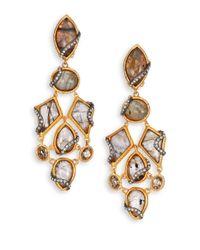Alexis Bittar | Metallic Elements Phoenix Labradorite & Crystal Clip-On Drop Earrings | Lyst