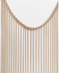 Lipsy | Metallic Fleur East By Long Tassel Necklace | Lyst