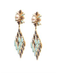 Shourouk | Blue Cobra Earrings | Lyst
