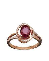 Lord & Taylor | Red Diamond And Ruby 14k Yellow Gold Ring | Lyst