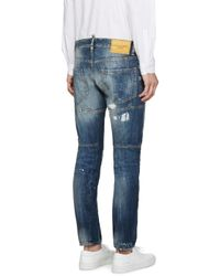 DSquared² - Blue Dirty Vintage Tidy Biker Jeans for Men - Lyst