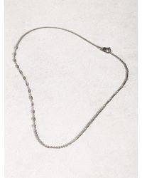 John Varvatos | Gray Asymmetric Silver Necklace for Men | Lyst