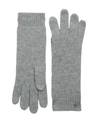 Lauren by Ralph Lauren | Gray Cashmere Luxury Touch Glove | Lyst