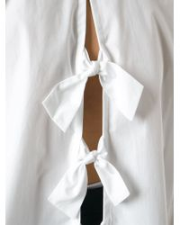 Stella McCartney   White Bow Detail Shirt   Lyst