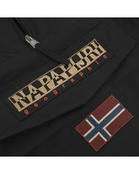Napapijri - Rainforest M Sum Black Cagoule Jacket N0Yh0B041 for Men - Lyst