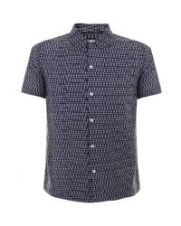 Universal Works - Blue Road Navy Shirt 14163 for Men - Lyst