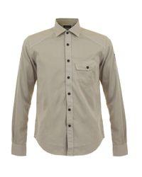 Belstaff | Gray Steadway Stone Grey Shirt for Men | Lyst