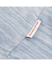 Orlebar Brown - Brown Felix Fine Stripe Bluestone Polo Shirt 264982 for Men - Lyst