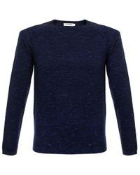 J.Lindeberg - Blue Fredric Dyed Knit Indigo Jumper for Men - Lyst