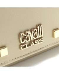 Class Roberto Cavalli - Jet Set White Leather Studded Wallet - Lyst