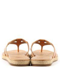 Ugg - Brown Annice Cafe Leather Toe Post Flip Flop - Lyst