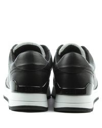 DKNY - Jamie Black Leather Lace Up Trainer - Lyst