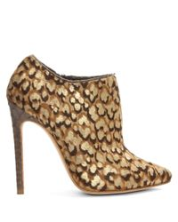 Gina - Brown Kenny Leopard Calf Hair Ankle Boot - Lyst