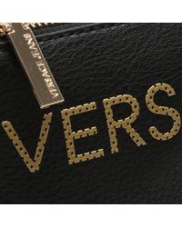Versace Jeans Linea Black Pebbled Logo Cross-body Bag