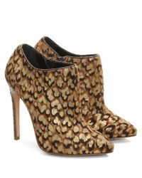 Gina | Brown Kenny Leopard Calf Hair Ankle Boot | Lyst