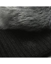 Ugg - Luxe Cuff Black Pom Pom Hat - Lyst